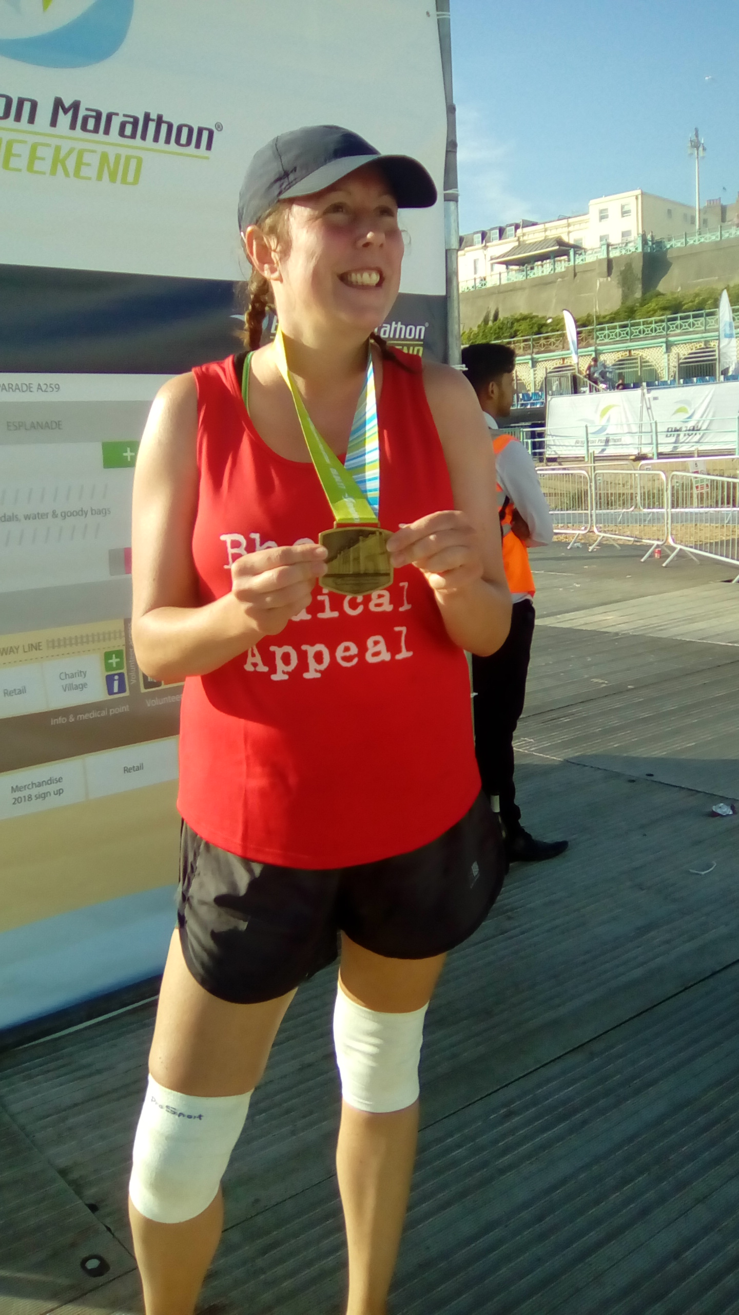 Karen O'Brien With Finisher's Medal
