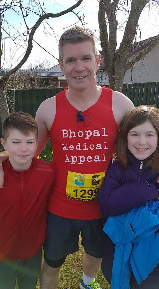 Mark Whyte Pictured Before His 'Training' Half-Marathon