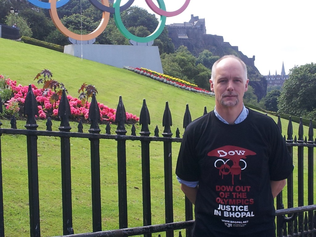 Scottish Friends of Bhopal charity Edinburgh Olympic Protest