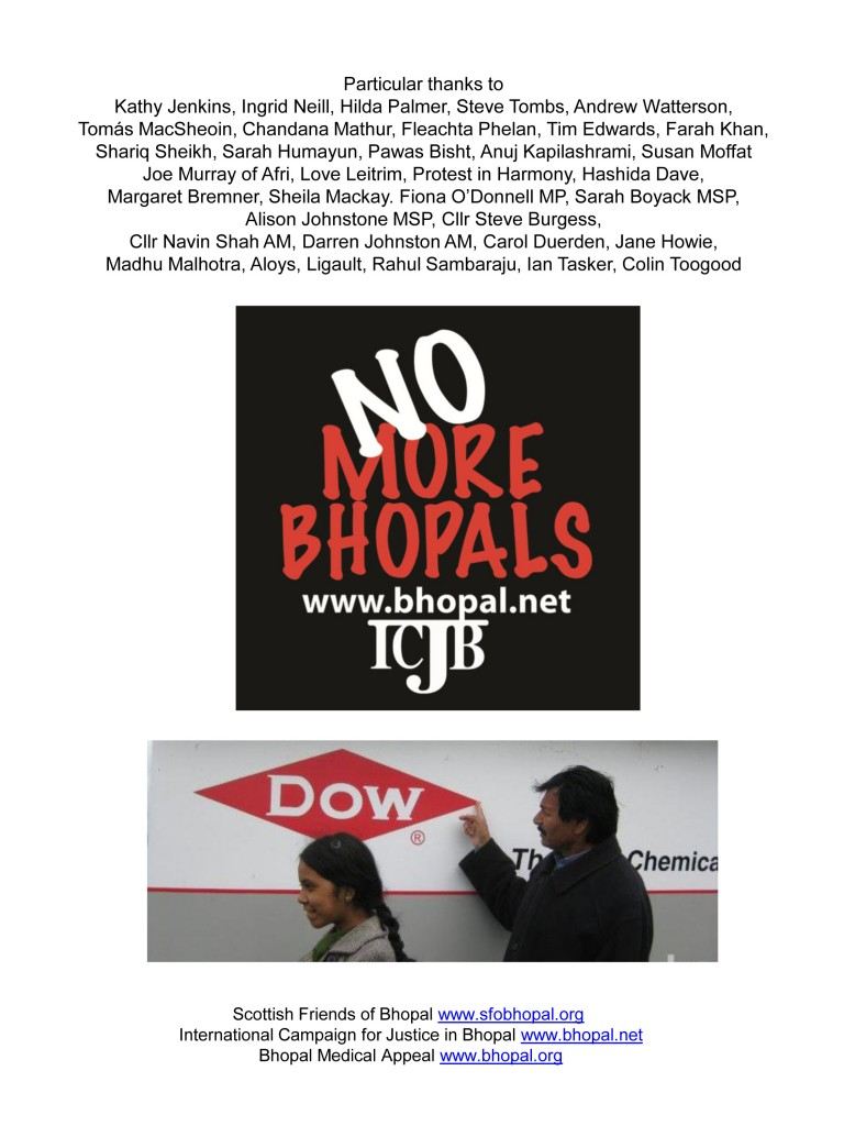 Bhopal Survivors visit universities and trade unions around the UK to remmeber those suffering in Bhopal
