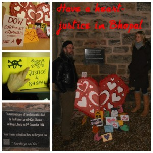 Have a Heart Bhopal gas disaster December 2012 Scottish Friends of Edinburgh