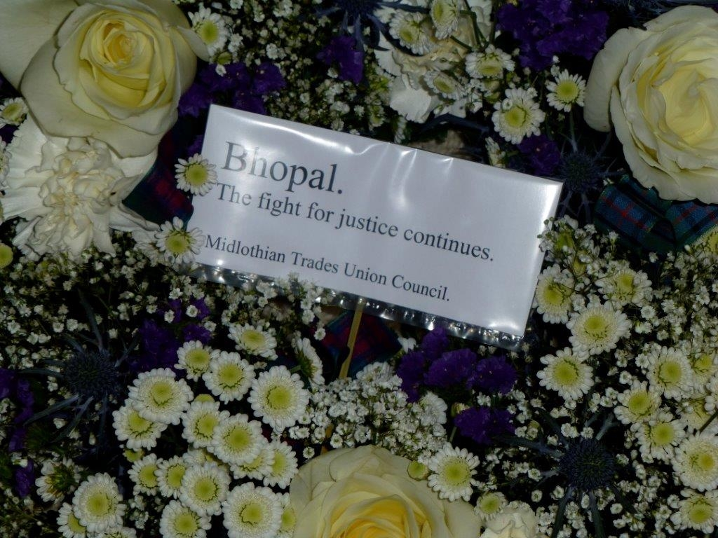 Scottish Friends of Bhopal Memorial 29th anniversary Edinburgh service