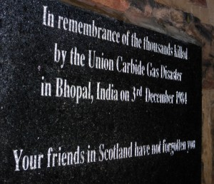 Bhopal Memorial Plaque, Greyfriar's Kirkyard, Edinburgh
