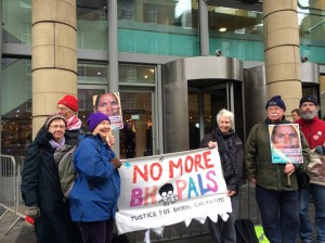 SFOB demo outside the World Forum on Natural Capital, Edinburgh
